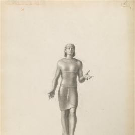 Imagen de Khonsu o de Montu (Osiris, según Ajello)