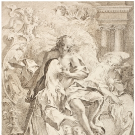 Aparición de Cristo a Santa Catalina de Siena