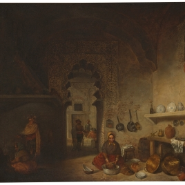Interior de la cocina de una posada del pueblo de Maqueda