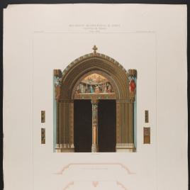 Portada de Santa Catalina en el claustro de la Catedral de Toledo