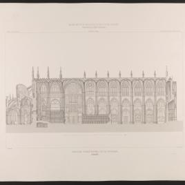 Sección longitudinal de la Catedral de Toledo