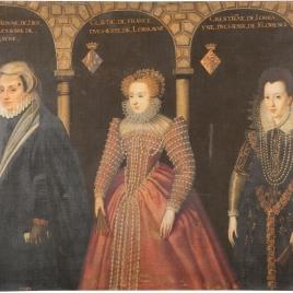 Cristina de Dinamarca, duquesa de Lorena; Claudia de Francia, duquesa de Lorena, y Cristina de Lorena, duquesa de Florencia