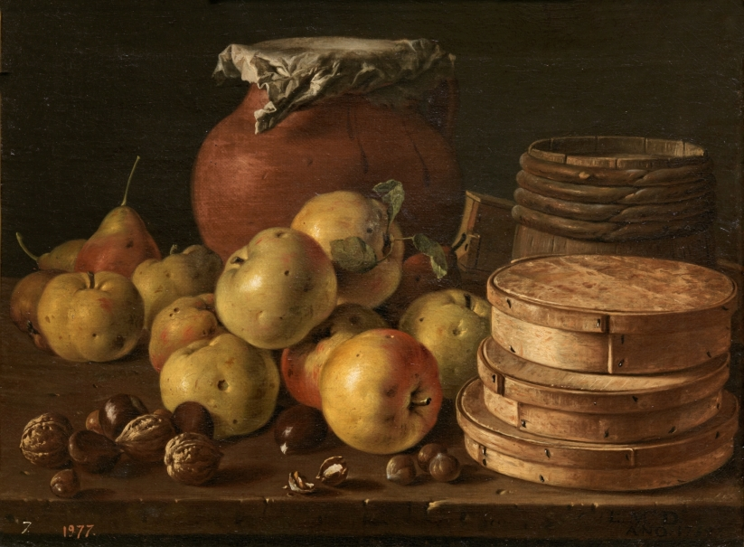 Still Life with Apples, Nuts, Boxes of Sweets and Vessels
