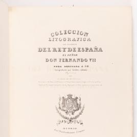 Portada del segundo volumen de la Colección Litográfica