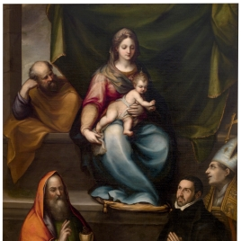 The Holy Family, Saint Ildephonsus, Saint John the Evangelist and Master Alonso de Villegas