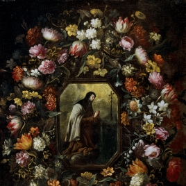 Garland of Flowers with Saint Teresa of Jesus