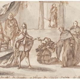Santo Tomás de Villanueva y los condenados a muerte ante Carlos V
