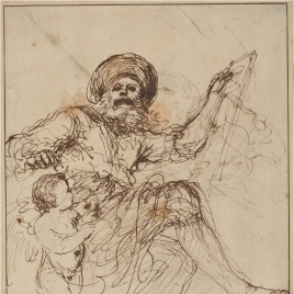 Study of a prophet / Human figure with a child