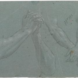 Estudio de cuatro brazos con manos