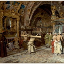 Penitents in the Lower Basilica of Assisi