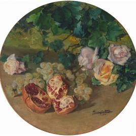Bodegón con rosas