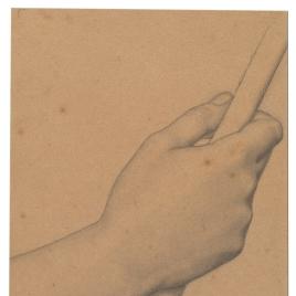 Estudio de mano para un ángel músico (Mater Salvatoris. Capilla de las Letanías de la Iglesia de Notre Dame de Lorette, París).