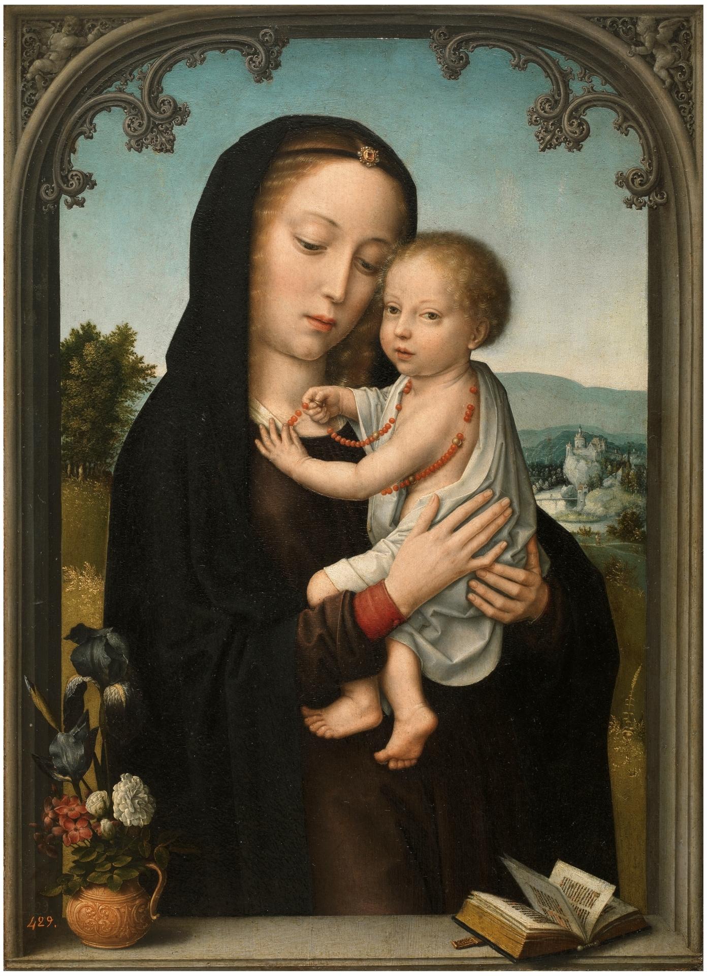 Resultado de imagen de la virgen con niño david gerard
