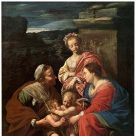 La Virgen y el Niño, con Santa Isabel, San Juan Bautista y Santa Catalina