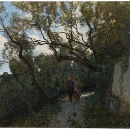 Paisaje en las cercanías de Génova o En el bosque