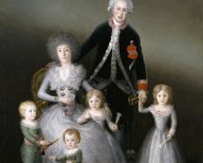 Los duques de Osuna y sus hijos
