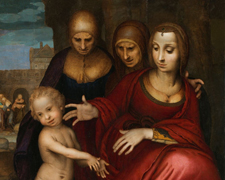 Santa Ana, la Virgen, Santa Isabel, San Juan y Jesús niño