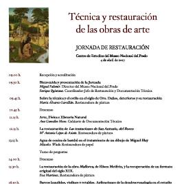 Técnica y restauración de las obras de arte [Recurso electrónico]: jornada de restauración / Museo Nacional del Prado.