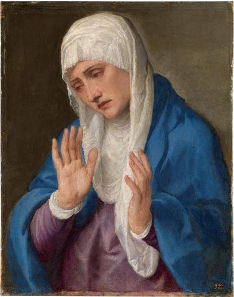 The Virgin Dolorosa with her Hands apart