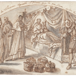 Santo Tomás de Villanueva reparte su dinero antes de morir