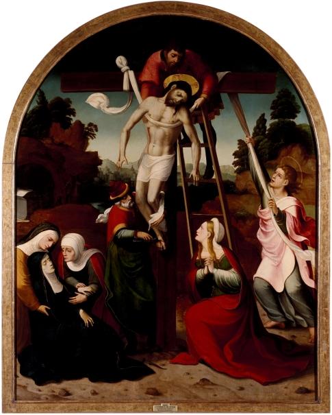 El Descendimiento De La Cruz Colección Museo Nacional Del Prado