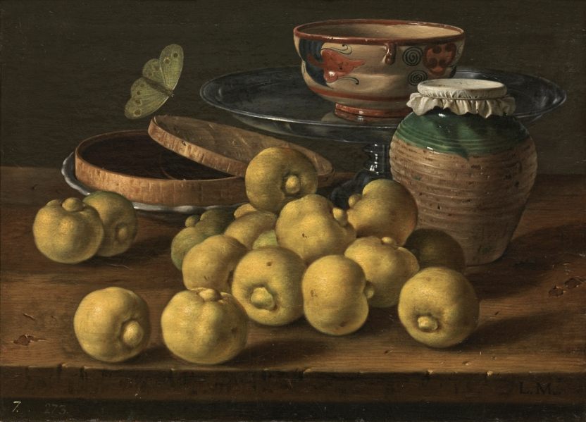 Still Life with Limes, Box of Jelly, Butterfly and Vessels