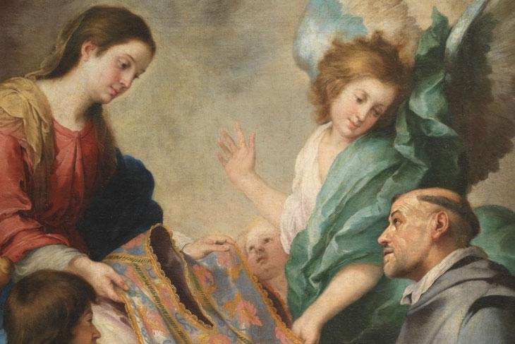 Aparición de la Virgen a san Ildefonso, de Murillo