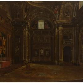 Interior de la Capilla Sixtina en Santa María la Mayor de Roma