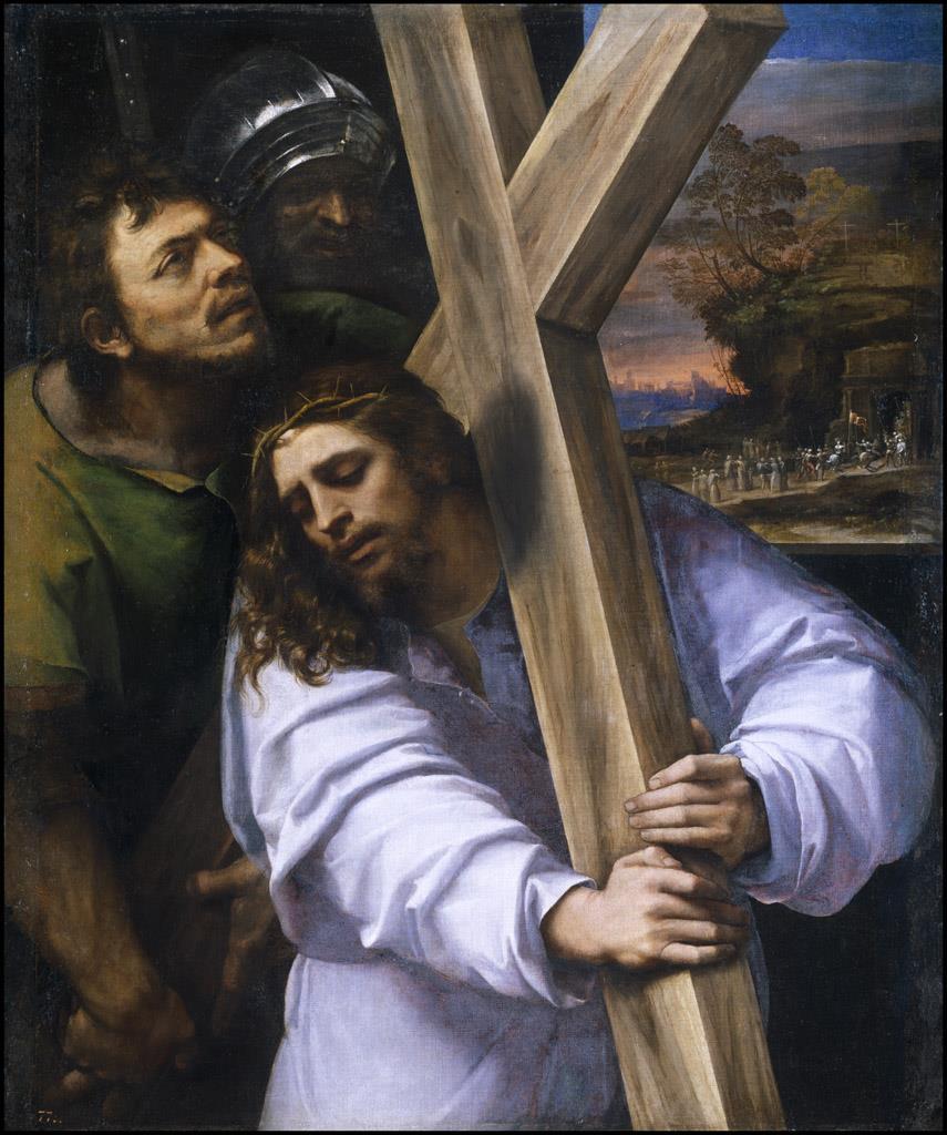 Cristo con la cruz a cuestas [Sebastiano del Piombo]