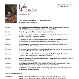 Luis Meléndez [Recurso electrónico] : bodegones : curso monográfico / Museo Nacional del Prado.