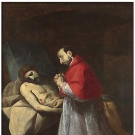 San Carlos Borromeo ante Cristo muerto