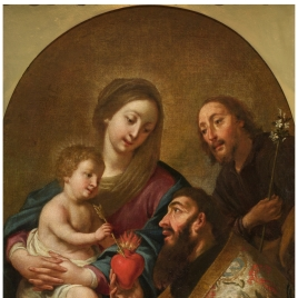 The Holy Family with Saint Augustine