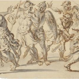 Friso con soldados romanos