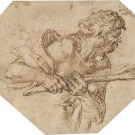 Estudio de figura masculina barbada (¿Hércules?)