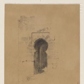 Puerta con arco de herradura del Castillo de Alcalá de Guadaíra, Sevilla