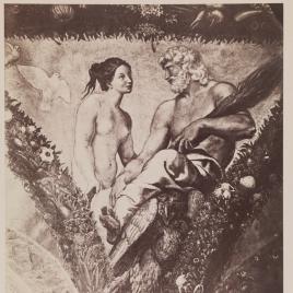 """""""Venus y Júpiter"""", pintura al fresco en la Villa Farnesina de Roma"""