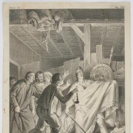 Don Quijote derrota a los cueros de vino