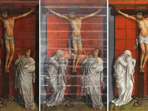 El <em>Calvario</em> de Rogier Van der Weyden, se expone en el Prado tras su restauración