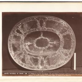 Oval heliotrope platter
