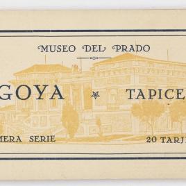 Taco de postales del Museo del Prado, Goya, cartones para tapices