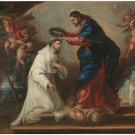 San Ramón Nonato coronado por Cristo