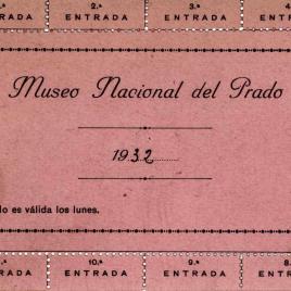 Entrada gratuita al Museo correspondiente al año 1932.