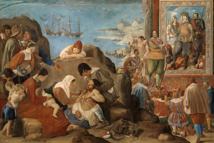 La recuperación de Bahía de Todos los Santos, de Fray Juan Bautista Maíno