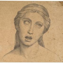 Estudio de cabeza de ángel cantor (Mater Salvatoris. Capilla de las Letanías de la Iglesia de Notre Dame de Lorette, París).