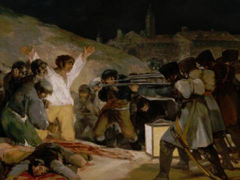 """<em>El tres de mayo en Madrid o """"Los fusilamientos""""</em>, Francisco de Goya y Lucientes, comentada por Pablo Serrano"""