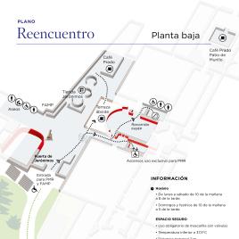 Reencuentro : [Plano de la exposición] / Museo Nacional del Prado