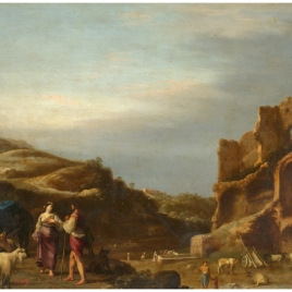 Landscape with Shepherds near Roman Ruins
