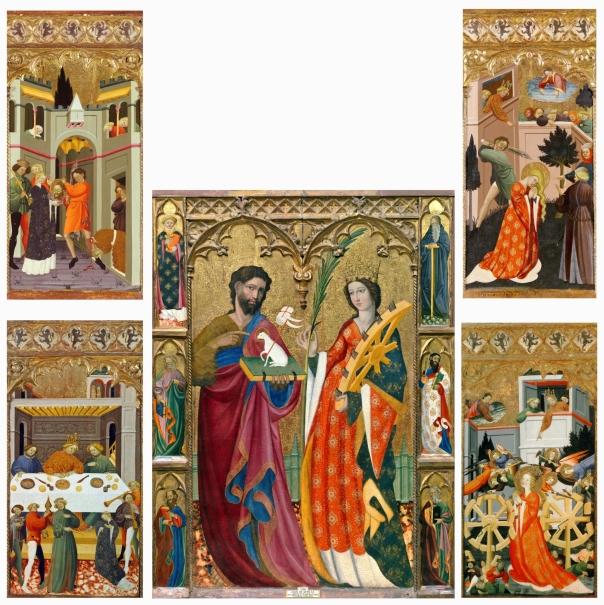 Retablo de san juan bautista y santa catalina colecci n for Muebles peralta sevilla