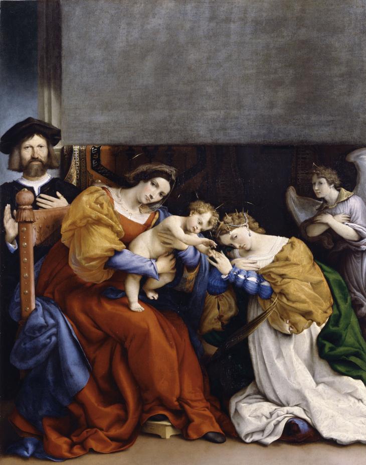 El Matrimonio Romano Monografias : Lorenzo lotto retratos exposición museo nacional del prado