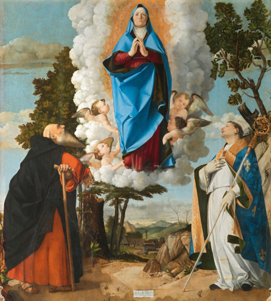 Assumption of the Virgin with Saints Anthony Abbot and Louis of Toulouse